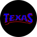 Texas Name Spare Tire Cover on Black Vinyl