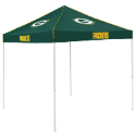 Green Bay Tent w/ Packers Logo - 9 x 9 Solid Color Canopy