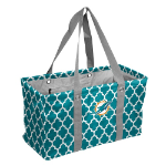 Miami Dolphins Quatrefoil Picnic Caddy w/ Officially Licensed Logo