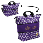 Minnesota Vikings Quatrefoil Expandable Tote w/ Officially Licensed Logo