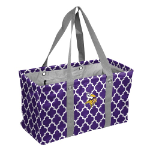 Minnesota Vikings Quatrefoil Picnic Caddy w/ Officially Licensed Logo