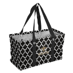 New Orleans Saints Quatrefoil Picnic Caddy w/ Officially Licensed Logo