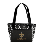 New Orleans Saints Quatrefoil 16-Can Cooler w/ Officially Licensed Team Logo