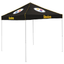 Pittsburgh Tent w/ Steelers Logo - 9 x 9 Solid Color Canopy