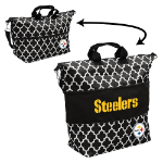 Pittsburgh Steelers Quatrefoil Expandable Tote w/ Officially Licensed Logo
