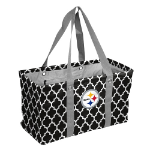 Pittsburgh Steelers Quatrefoil Picnic Caddy w/ Officially Licensed Logo