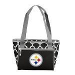 Pittsburgh Steelers Quatrefoil 16-Can Cooler w/ Officially Licensed Team Logo