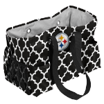 Pittsburgh Steelers Quatrefoil Jr Caddy w/ Officially Licensed Logo