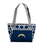 Los Angeles Chargers Quatrefoil 16-Can Cooler w/ Officially Licensed Team Logo