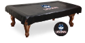 Connecticut Pool Table Cover w/ Huskies Logo - Black Vinyl