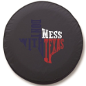 Don't Mess with Texas Color Tire Cover on Black Vinyl