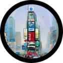 Times Square Spare Tire Cover on Black Vinyl