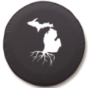 Michigan Roots Tire Cover on Black Vinyl