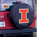 University of Illinois Tire Cover with Fighting Illini Logo