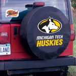 Michigan Tech University Tire Cover with Huskies Logo