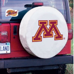 Minnesota Golden Gophers Tire Cover on White Vinyl