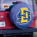 South Dakota State Tire Cover with Jackrabbits Logo on Blue