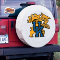 Kentucky Wildcats Tire Cover on White Vinyl