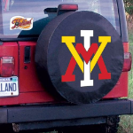 Virginia Military Institute Tire Cover on Black Vinyl