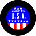 Made in the USA Tire Cover on Black Vinyl