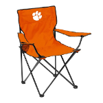 Clemson Tigers Quad Canvas Chair w/ Officially Licensed Team Logo