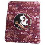 Florida State University Classic Fleece Blanket w/ Officially Licensed Team Logo