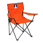 Illinois Fighting Illini Quad Canvas Chair w/ Officially Licensed Team Logo