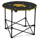 Iowa Hawkeyes Round Tailgating Table