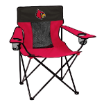 Louisville Cardinals Elite Canvas Chair w/ Officially Licensed Team Logo