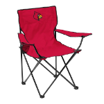 Louisville Cardinals Quad Canvas Chair w/ Officially Licensed Team Logo