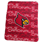 University of Louisville Classic Fleece Blanket w/ Officially Licensed Team Logo
