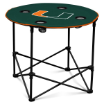 Miami Hurricanes Round Tailgating Table