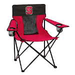 NC State Wolfpack Elite Canvas Chair w/ Officially Licensed Team Logo