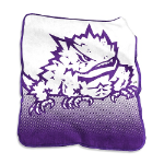 Texas Christian University Raschel Throw Blanket w/ Officially Licensed Team Logo