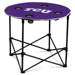 Texas Christian Horned Frogs Round Tailgating Table