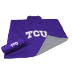 Texas Christian All-Weather Blanket w/ Officially Licensed Team Logo