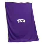 Texas Christian University Sweatshirt Blanket w/ Officially Licensed Team Logo