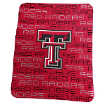 Texas Tech University Classic Fleece Blanket w/ Officially Licensed Team Logo
