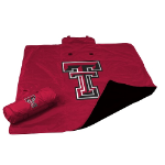Texas Tech University All-Weather Blanket w/ Officially Licensed Team Logo