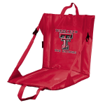 Texas Tech Stadium Seat w/ Red Raiders Logo - Cushioned Back