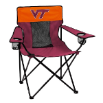 Virginia Tech Elite Canvas Chair w/ Officially Licensed Team Logo