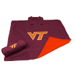 Virginia Tech University All-Weather Blanket w/ Officially Licensed Team Logo