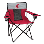 Washington State Elite Canvas Chair w/ Officially Licensed Team Logo
