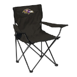 Baltimore Ravens Quad Canvas Chair w/ Officially Licensed Team Logo