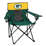 Green Bay Packers Elite Canvas Chair w/ Officially Licensed Team Logo