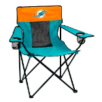 Miami Dolphins Elite Canvas Chair w/ Officially Licensed Team Logo