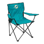 Miami Dolphins Quad Canvas Chair w/ Officially Licensed Team Logo