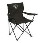 Oakland Raiders Quad Canvas Chair w/ Officially Licensed Team Logo