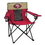 San Francisco 49ers Elite Canvas Chair w/ Officially Licensed Team Logo
