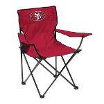 San Francisco 49ers Quad Canvas Chair w/ Officially Licensed Team Logo